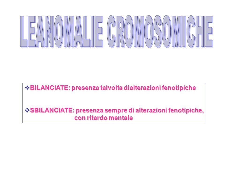 LEANOMALIE CROMOSOMICHE