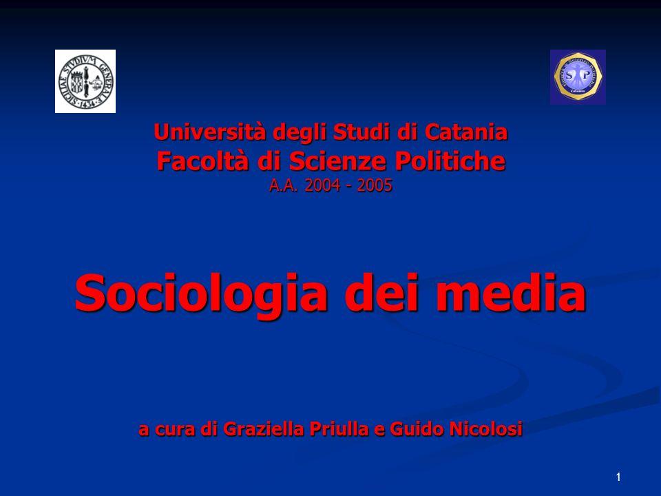 Università degli Studi di Catania Facoltà di Scienze Politiche A. A