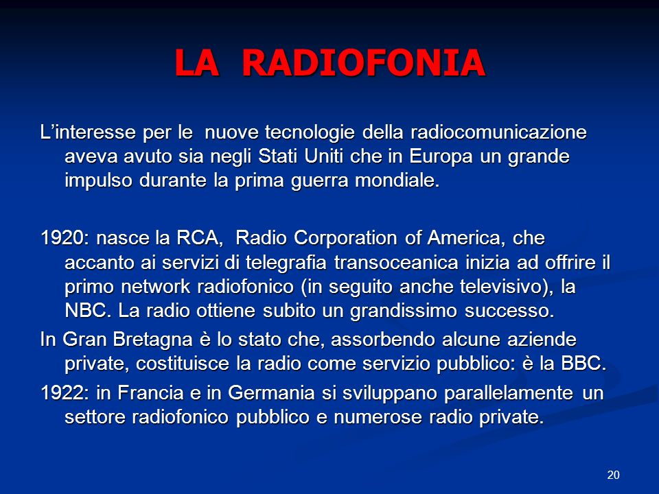 LA RADIOFONIA