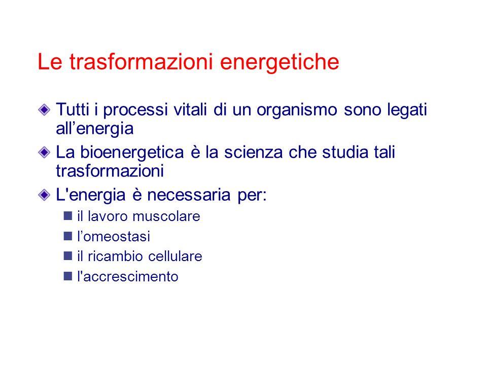 Le trasformazioni energetiche
