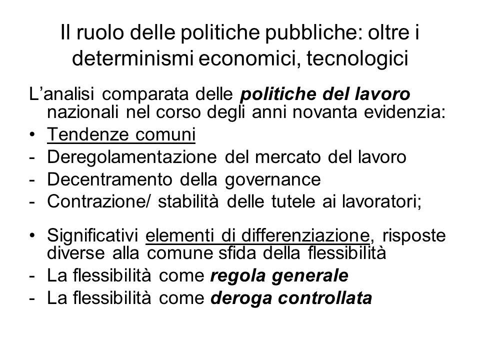 Il ruolo delle politiche pubbliche: oltre i determinismi economici, tecnologici