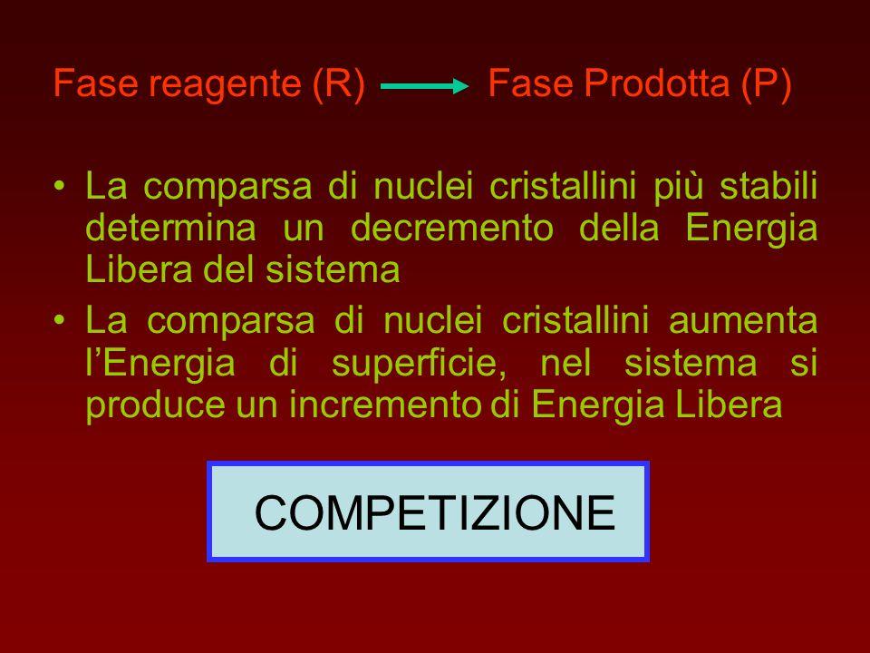 COMPETIZIONE Fase reagente (R) Fase Prodotta (P)