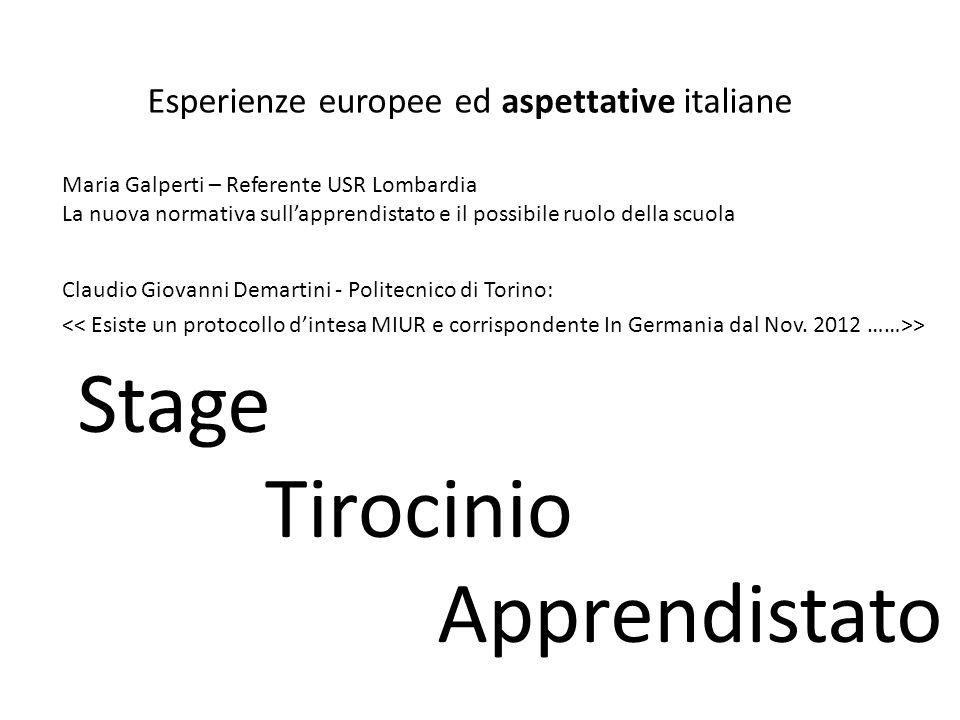 Esperienze europee ed aspettative italiane