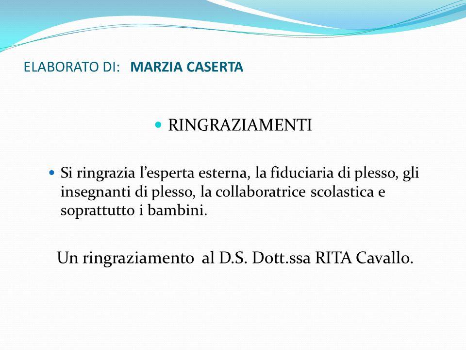 ELABORATO DI: MARZIA CASERTA