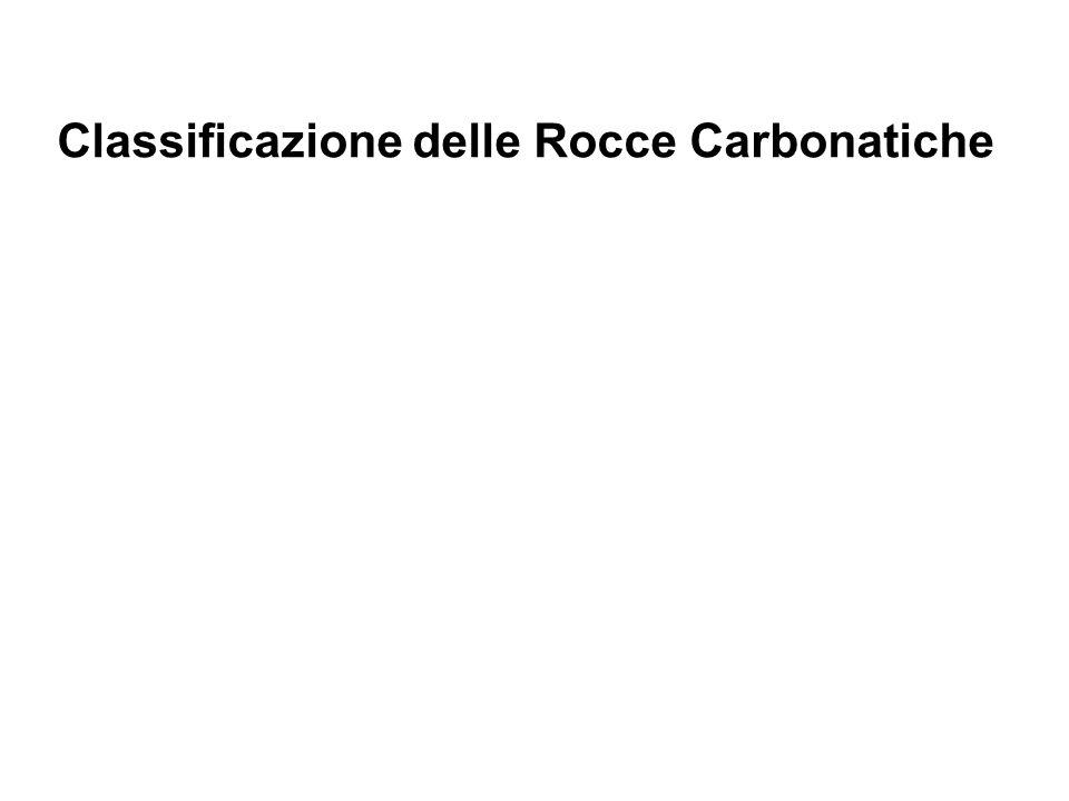 Classificazione delle Rocce Carbonatiche