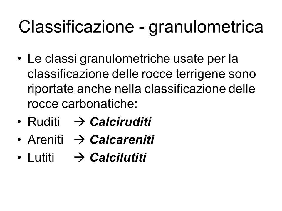 Classificazione - granulometrica