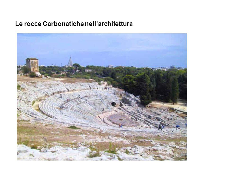 Le rocce Carbonatiche nell'architettura