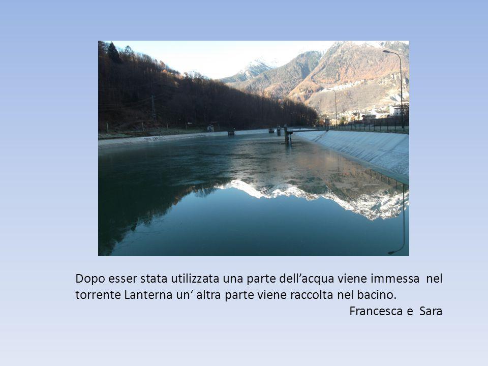 Dopo esser stata utilizzata una parte dell'acqua viene immessa nel torrente Lanterna un' altra parte viene raccolta nel bacino.