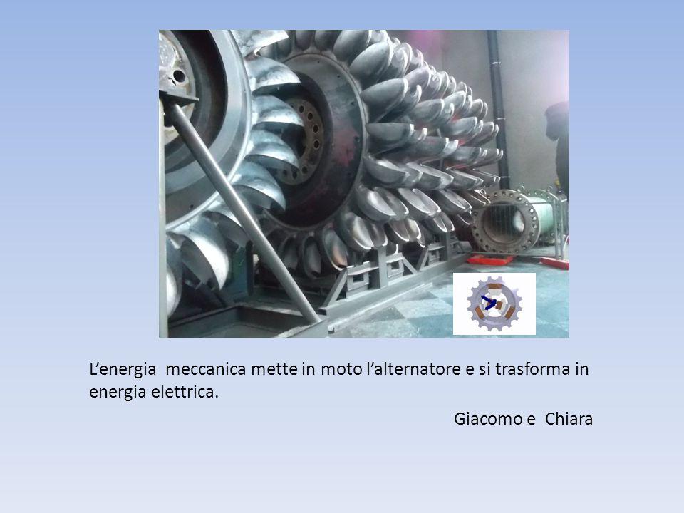 L'energia meccanica mette in moto l'alternatore e si trasforma in energia elettrica.