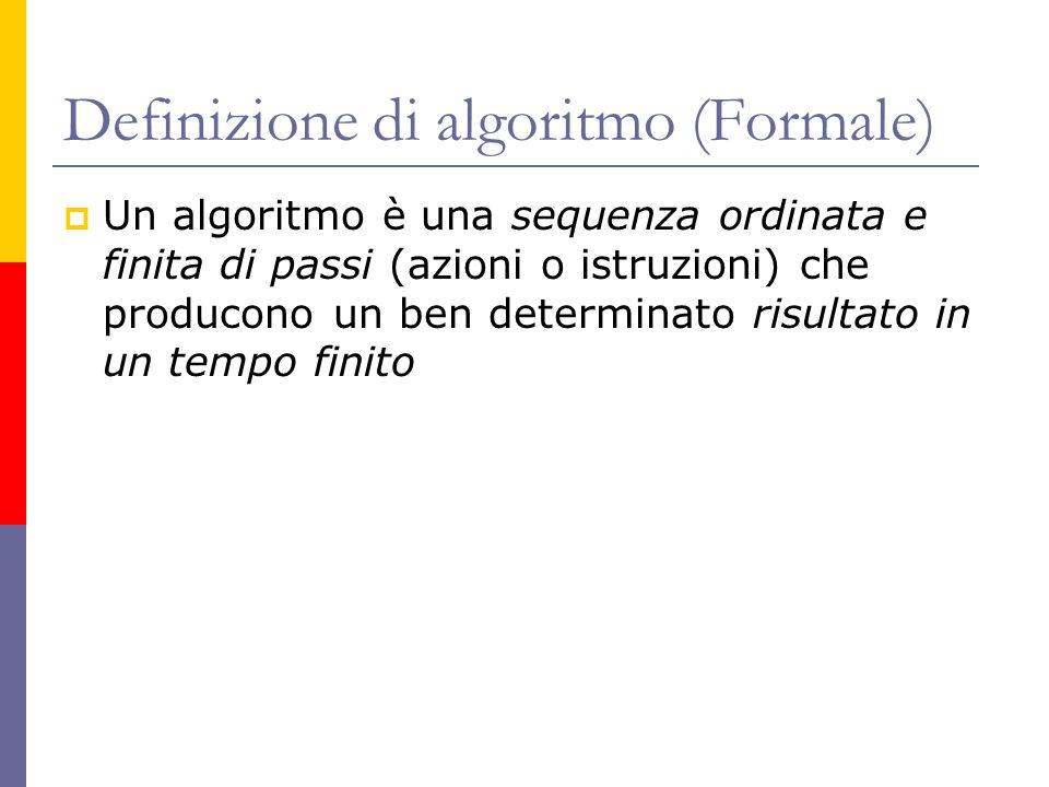 Definizione di algoritmo (Formale)