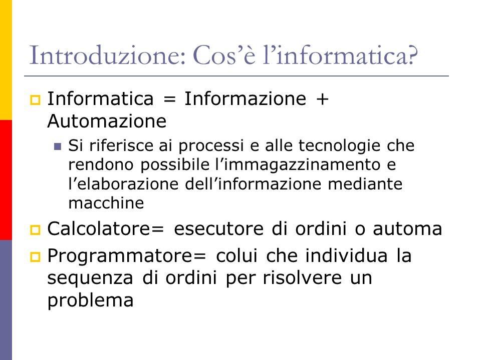 Introduzione: Cos'è l'informatica