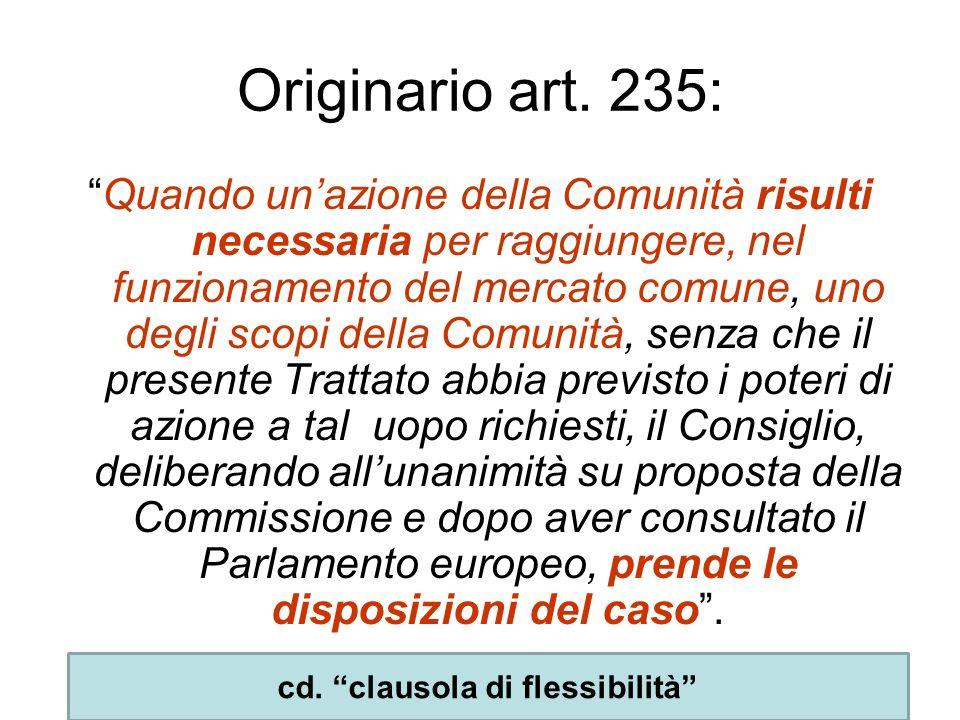 cd. clausola di flessibilità