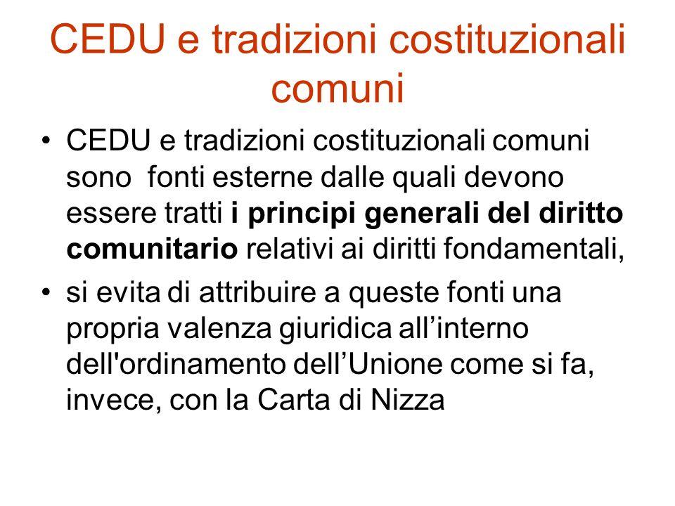 CEDU e tradizioni costituzionali comuni