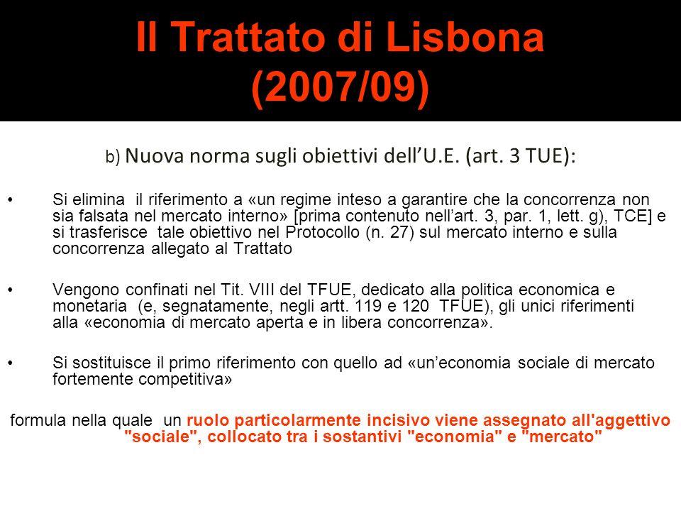 Il Trattato di Lisbona (2007/09)