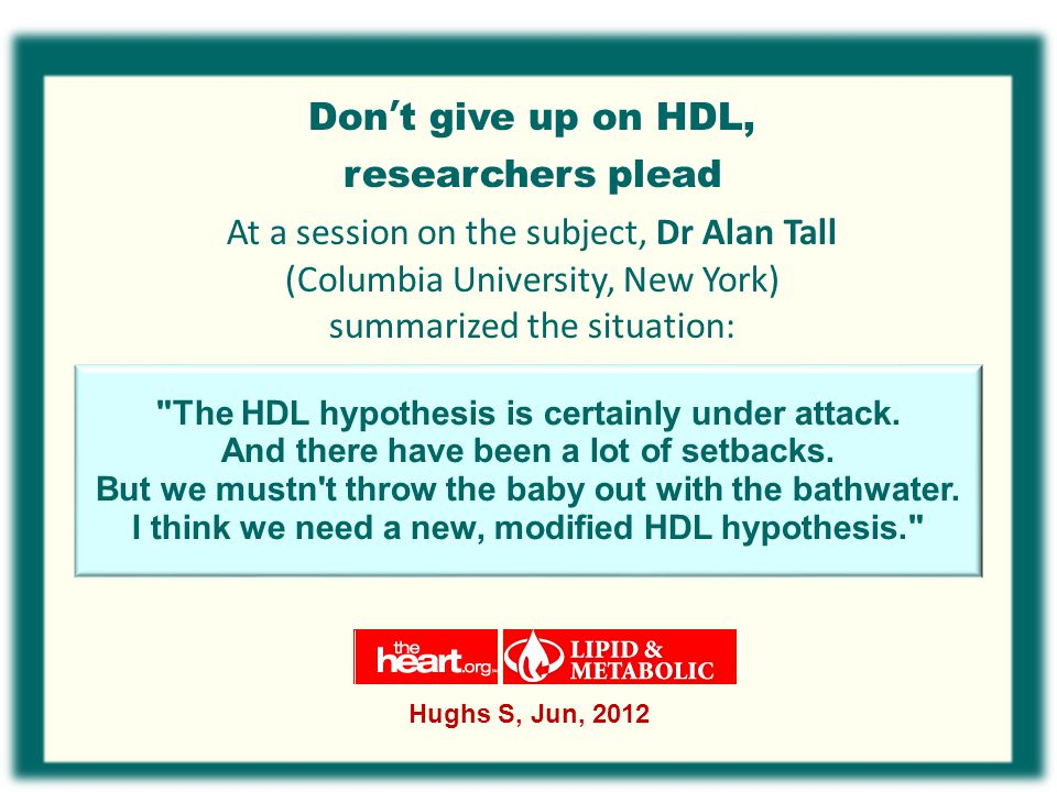 Don't give up on HDL, researchers plead