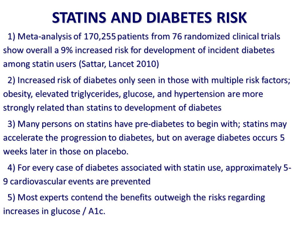 STATINS AND DIABETES RISK