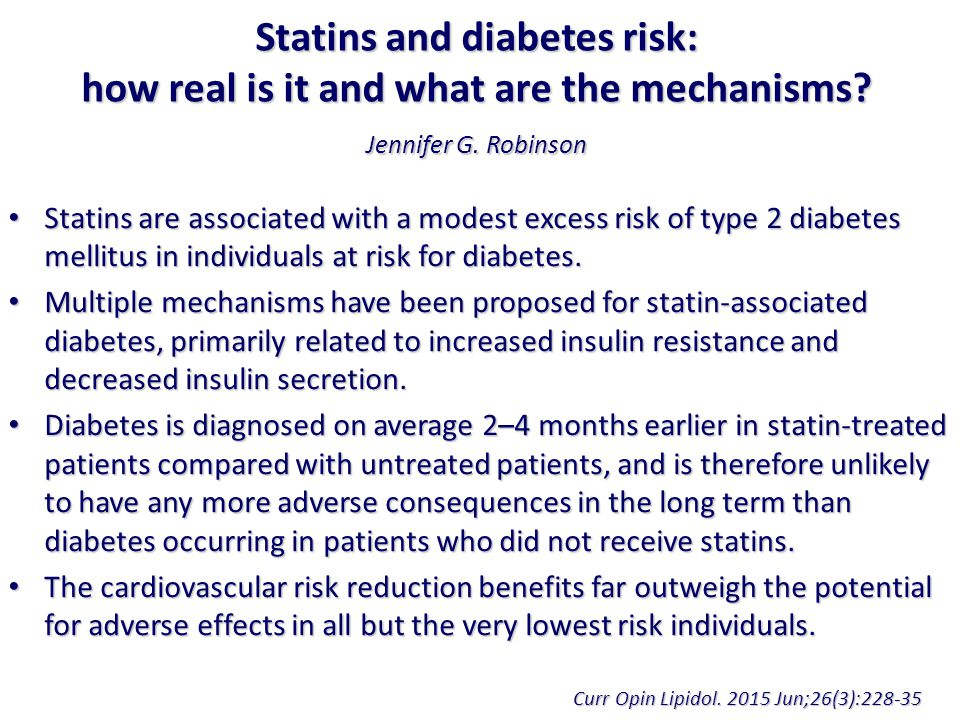Statins and diabetes risk: how real is it and what are the mechanisms