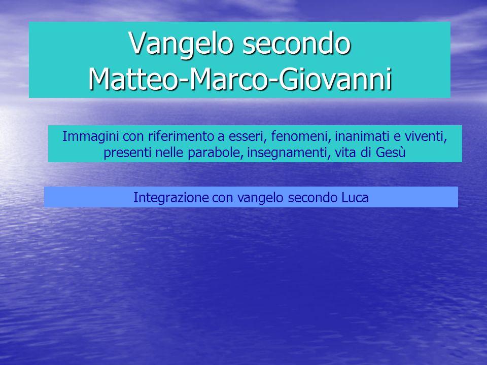 Vangelo secondo Matteo-Marco-Giovanni
