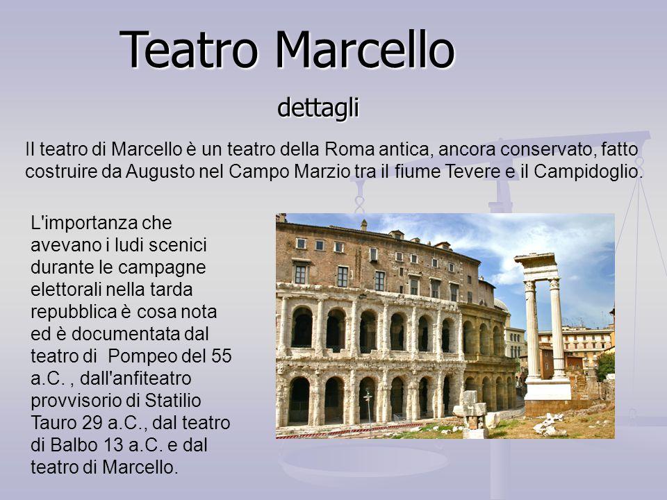 Teatro Marcello dettagli