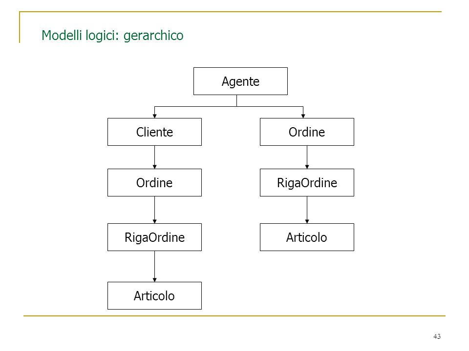 Modelli logici: gerarchico