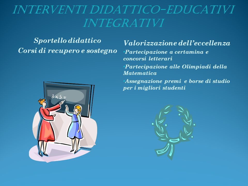 Interventi didattico-educativi integrativi