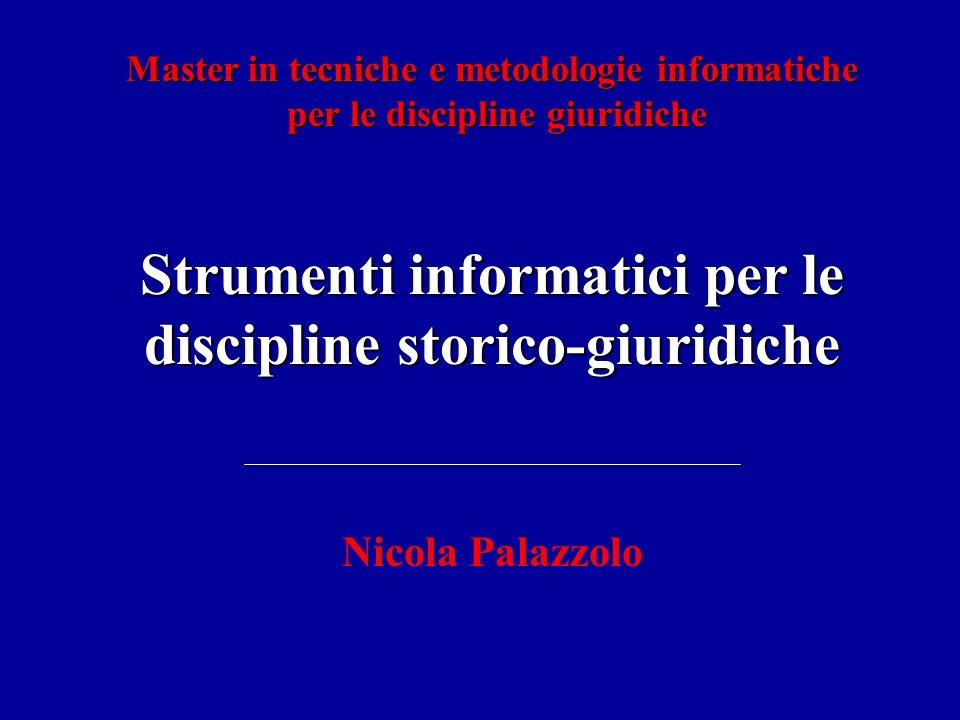 CP2001 - Strumenti informatici per le discipline storico-giuridiche