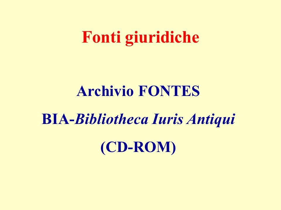BIA-Bibliotheca Iuris Antiqui