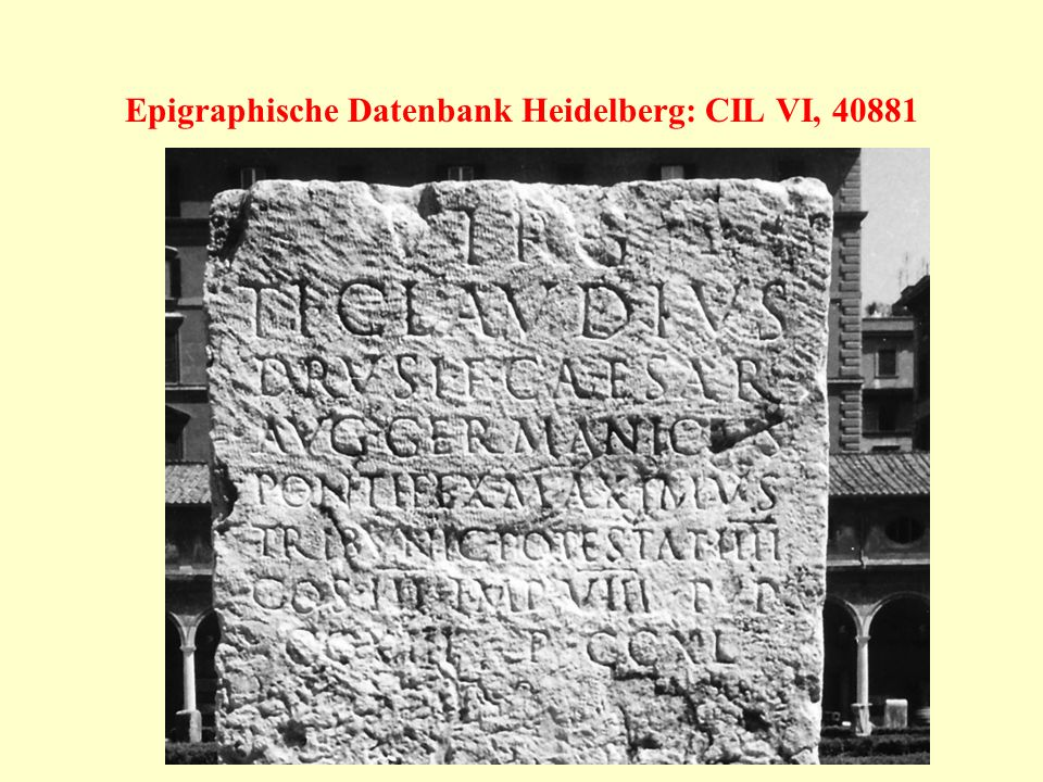 Epigraphische Datenbank Heidelberg: CIL VI, 40881