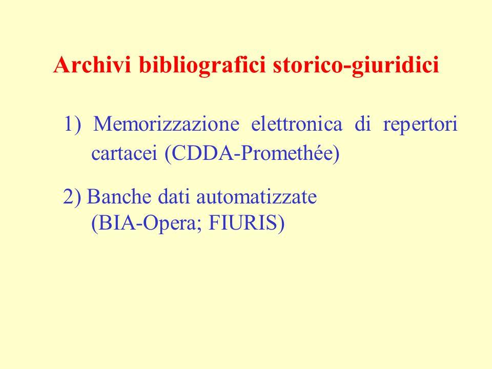 Archivi bibliografici storico-giuridici