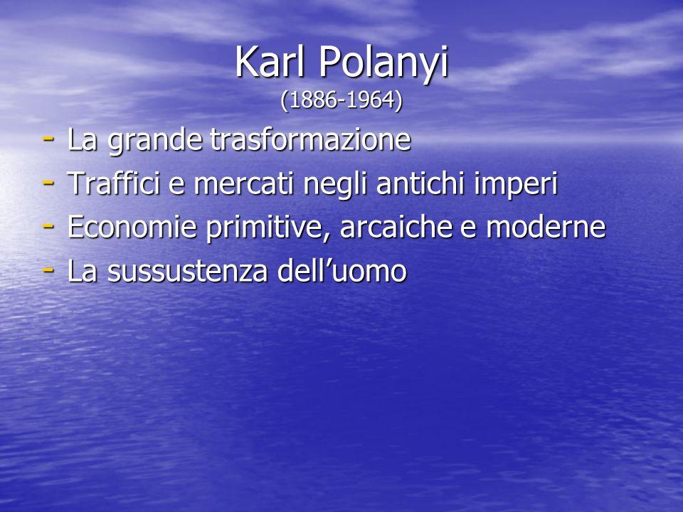 Karl Polanyi (1886-1964) La grande trasformazione