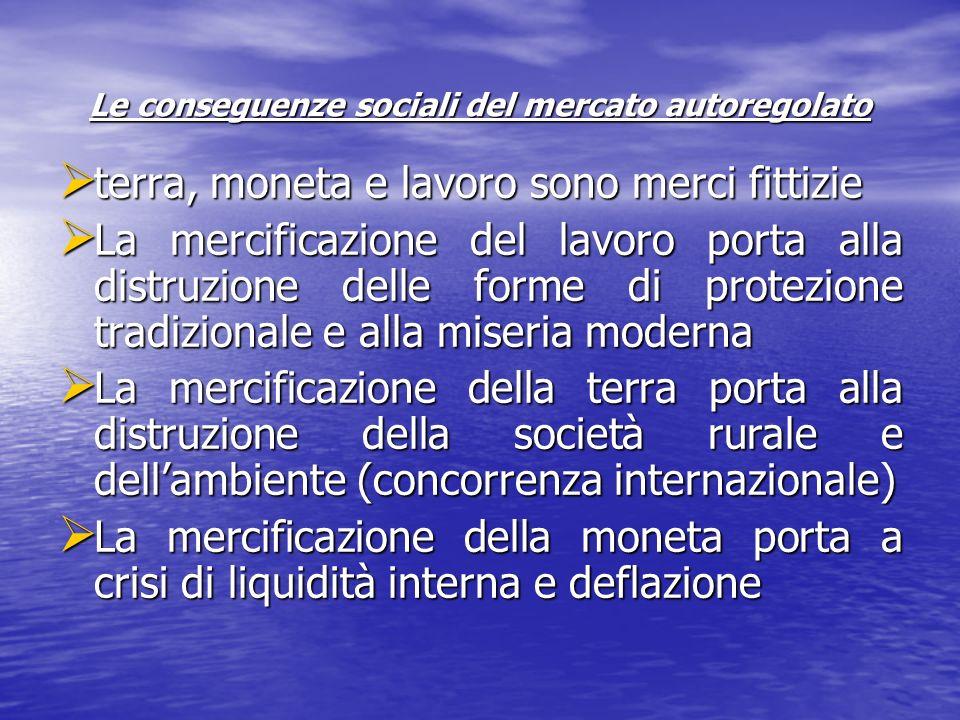 Le conseguenze sociali del mercato autoregolato