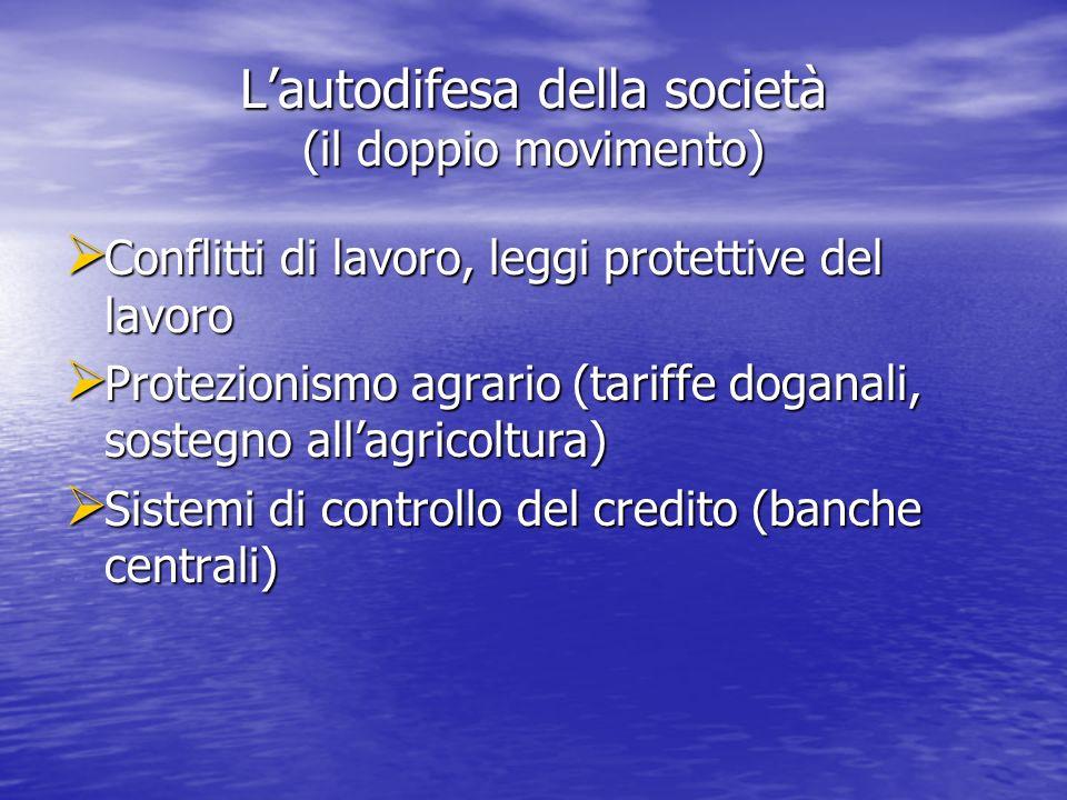 L'autodifesa della società (il doppio movimento)