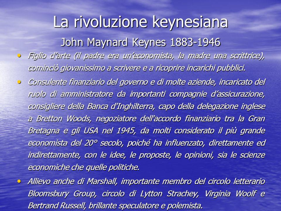 La rivoluzione keynesiana John Maynard Keynes 1883-1946