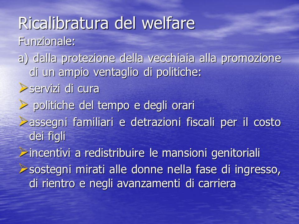 Ricalibratura del welfare