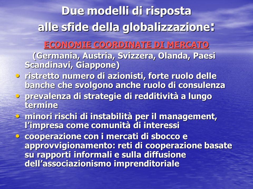 Due modelli di risposta alle sfide della globalizzazione: