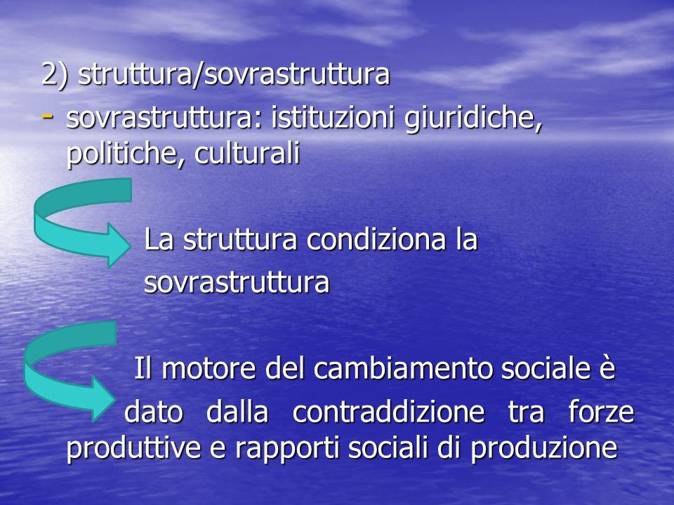 2) struttura/sovrastruttura