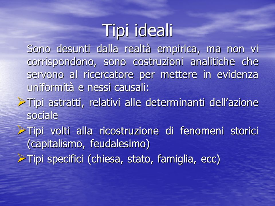 Tipi ideali