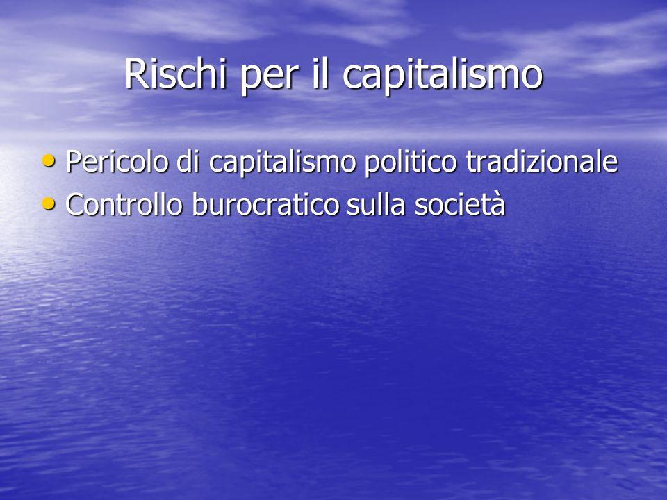 Rischi per il capitalismo