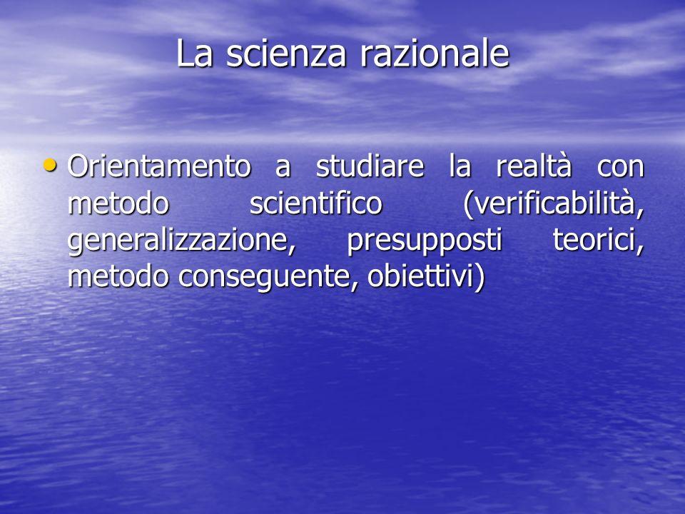 La scienza razionale