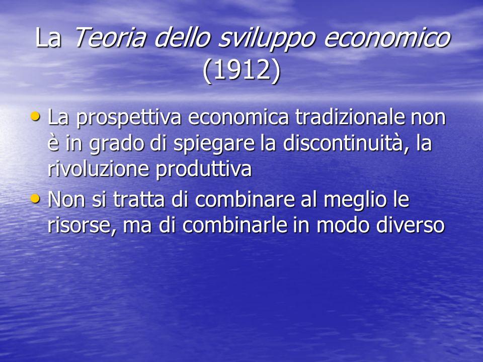 La Teoria dello sviluppo economico (1912)