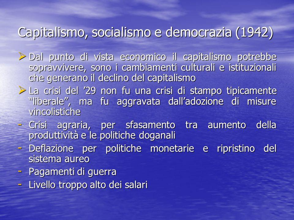 Capitalismo, socialismo e democrazia (1942)