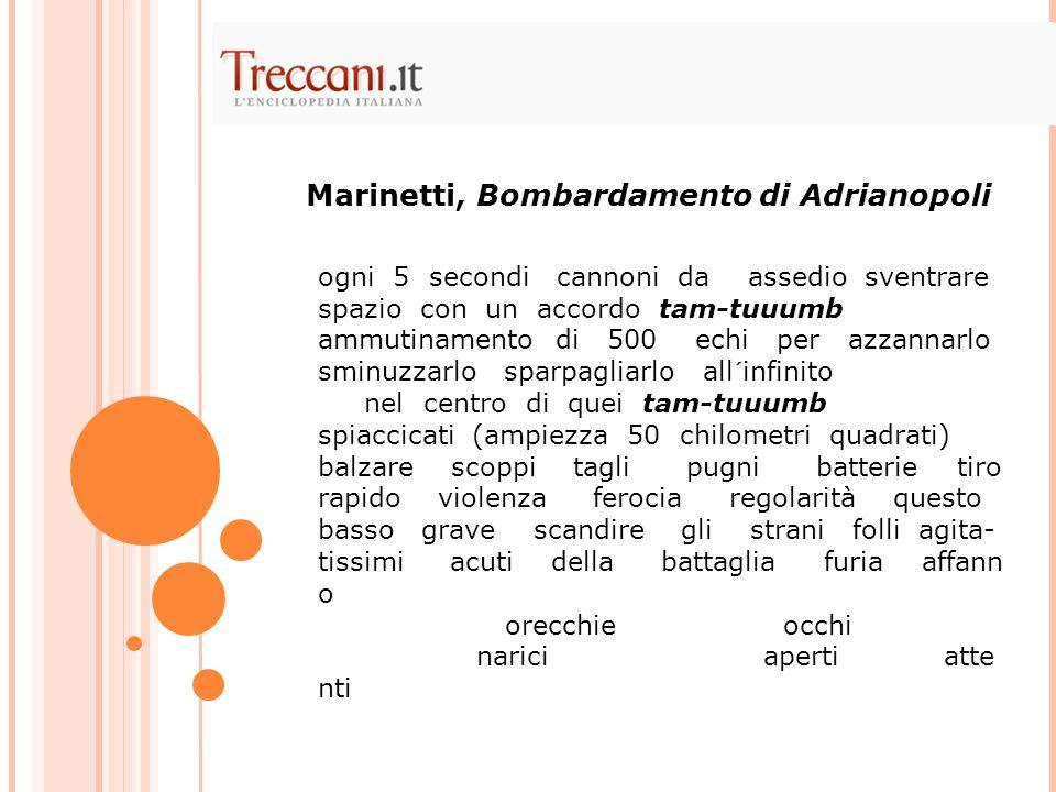 Marinetti, Bombardamento di Adrianopoli