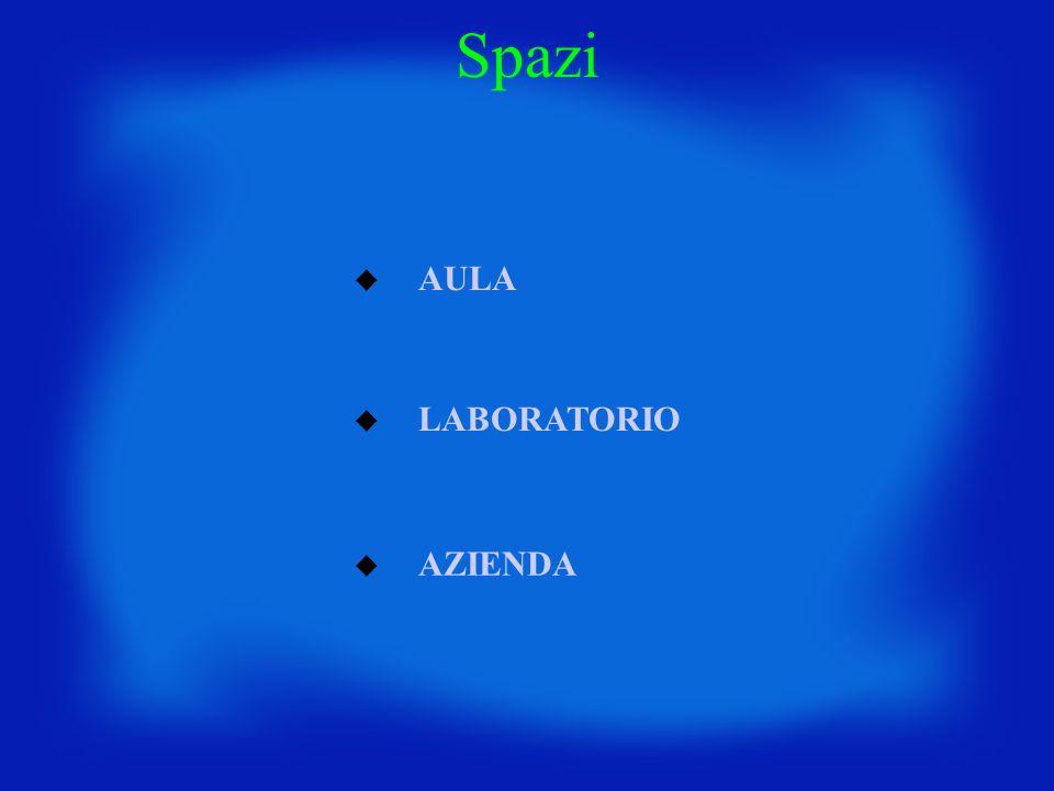Spazi AULA LABORATORIO AZIENDA