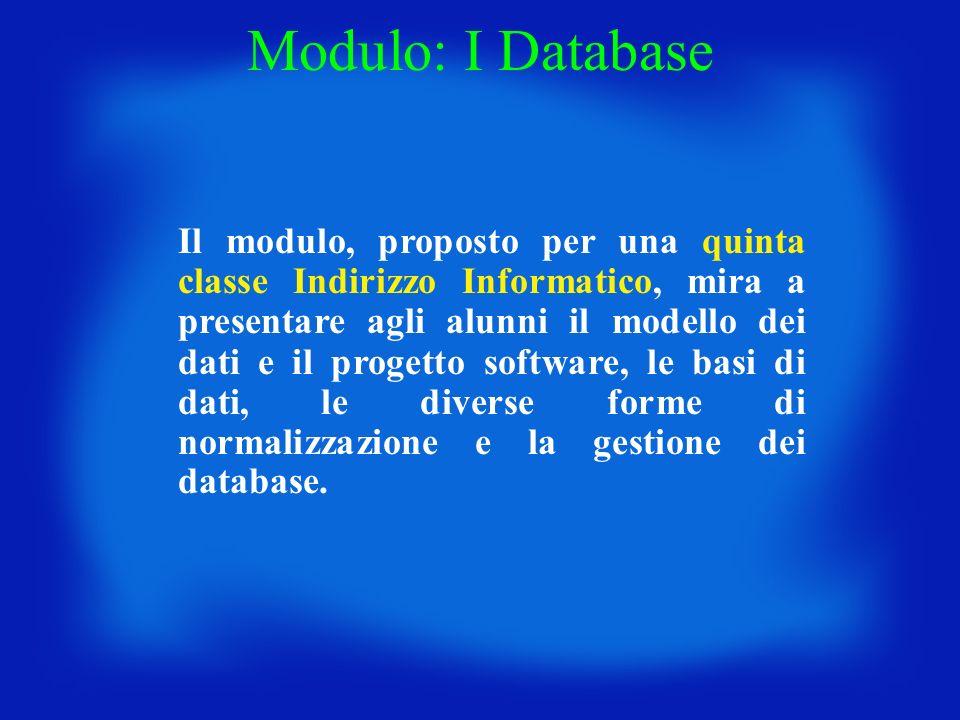 Modulo: I Database