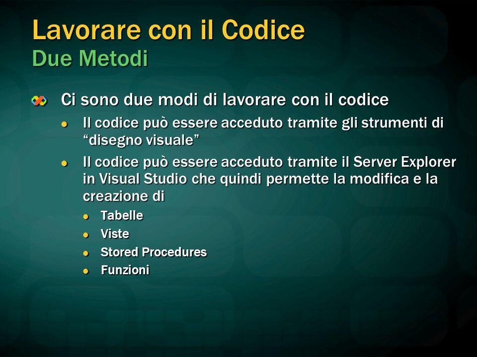 Lavorare con il Codice Due Metodi