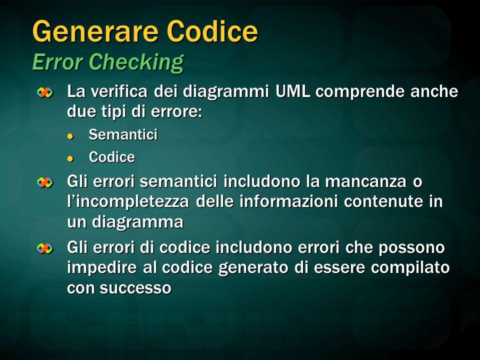 Generare Codice Error Checking