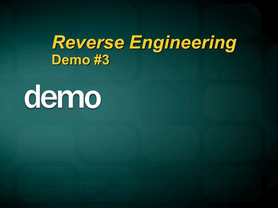 Reverse Engineering Demo #3