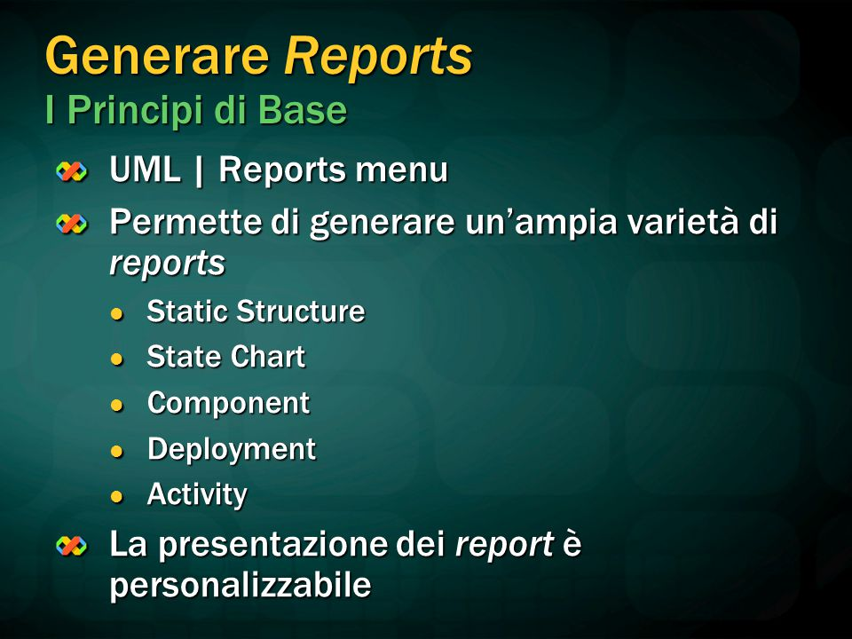 Generare Reports I Principi di Base
