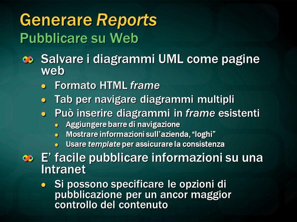 Generare Reports Pubblicare su Web