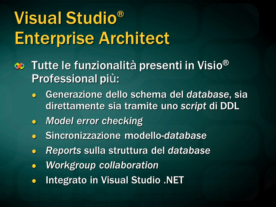 Visual Studio® Enterprise Architect